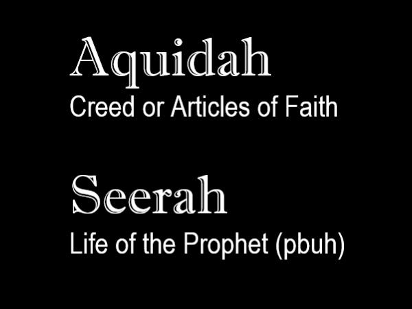 Aquidah & Seerah Lessons