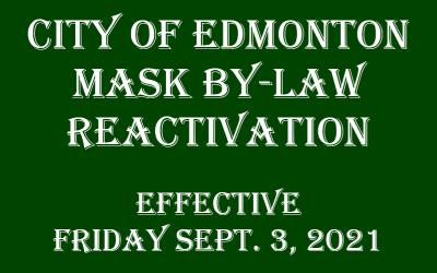 Edmonton Mask Bylaw Reactivation